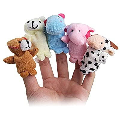 Twister.CK Finger Puppets Set (16pcs) Different Family and Animal Style Cartoon Finger Puppets,Soft Velvet Dolls Props Toys for Toddlers Shows/Playtime/Schools/Baby Story Time.