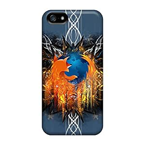 Hot Design Premium OmiOILk426TIrCy Tpu Case Cover Iphone 5/5s Protection Case(abstractfirefox)