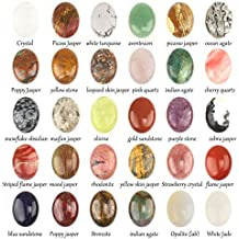 Wholesale Gemstone Mix Kinds of Jasper Agate Oval Shape Cabochon CAB Flatback Ring Face, DIY Jewelry Accressory (30x22mm 20pcs)
