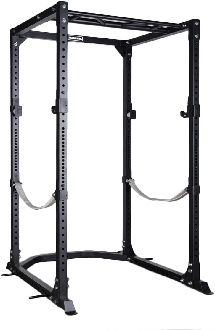 Bells of Steel Light Commercial Power Rack with Spotter Straps