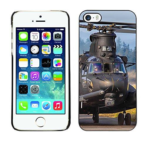 Premio Sottile Slim Cassa Custodia Case Cover Shell // F00010996 hélicoptère // Apple iPhone 5 5S 5G