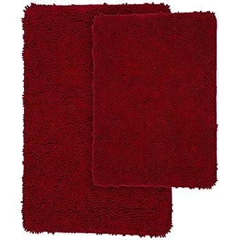 Amazon Com Lavish Home 2 Piece Memory Foam Shag Bath Mat