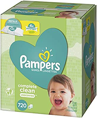 9 Refill Packs for... Pampers Sensitive Water-Based Baby Diaper Wipes