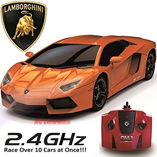 Lamborghini Aventador Remote Control Car for Kids LP 700-4, 1:14 Model, 2.4Ghz Race Over 10 Cars at Once! - Orange