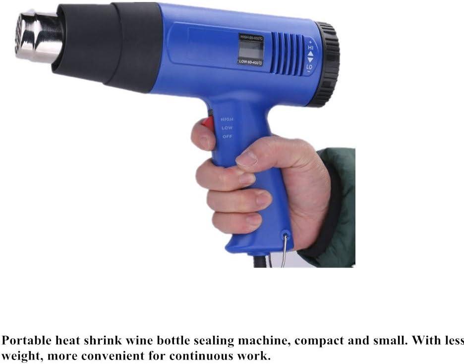 KUNHEWUHUA PVC Capsule Shrinking Machine Wine Bottle Capsule Sealing Machine LCD display Stepless Temperature Adjustment 110v USA//CA Plug