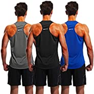 1994Fashion Men's 3 Pack Gym Tank Tops Y-Back Muscle Tank Fitness Training Sleeveless T-Shirts for Running