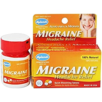 HYLANDS Migraine Headache Tablets, 60 CT