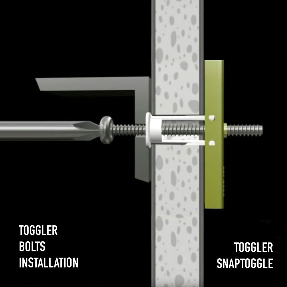 12 Pieces TOGGLER SNAPTOGGLE Drywall Anchor with included bolts for 1/4-20 Fastener size; holds 80 pounds each by TOGGLER