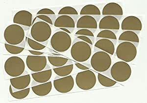 100 Gold 1 Inch Round Circle Scratch Off Stickers