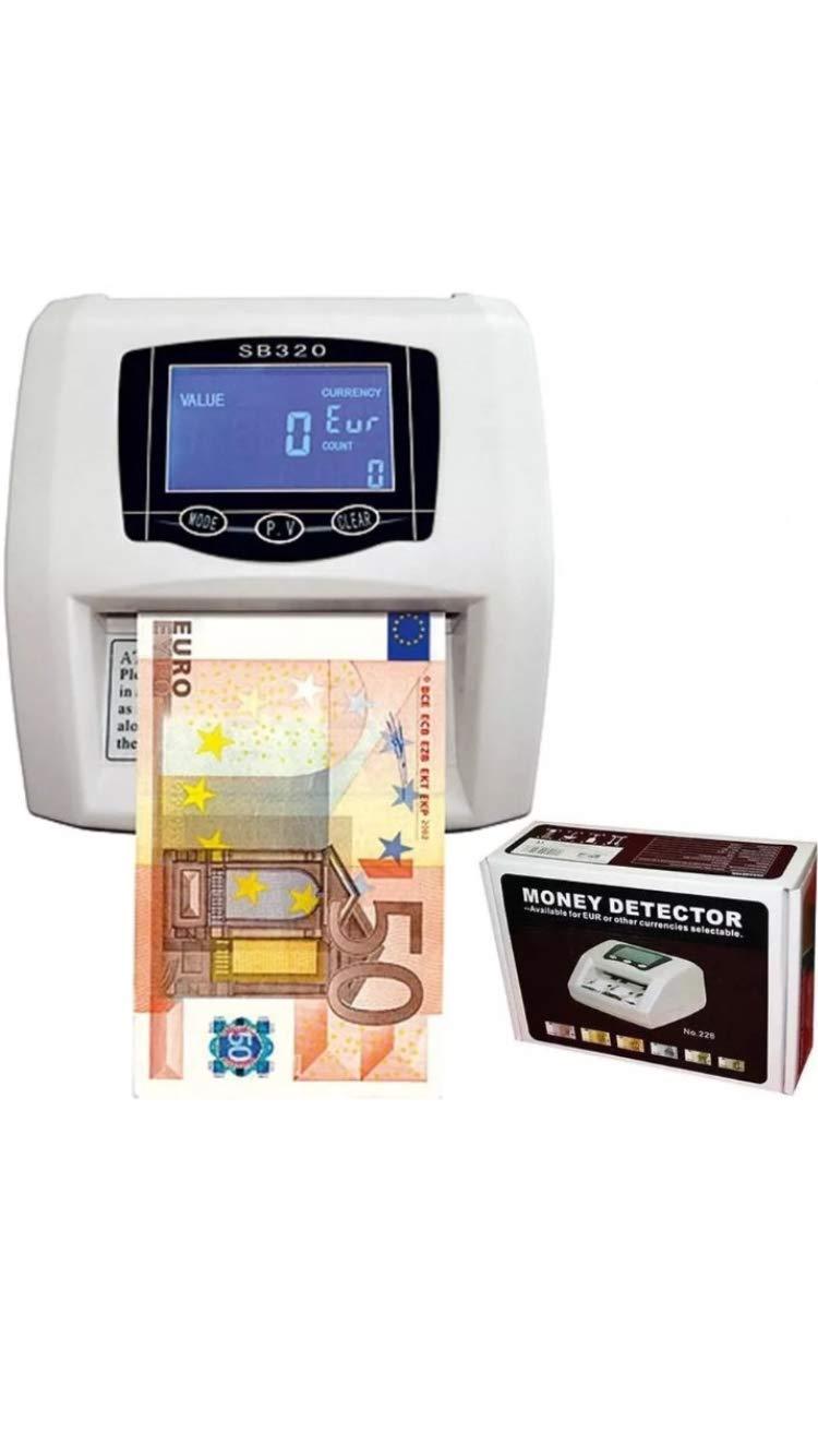 Detector de billetes falsos contador nuevos billetes detecta y cuenta 2 en 1: Amazon.es: Oficina y papelería