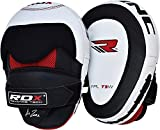 RDX Cowhide Leather Boxing Hook & Jab Pads MMA Strike Shield Thai Kick Focus Punching Mitts...