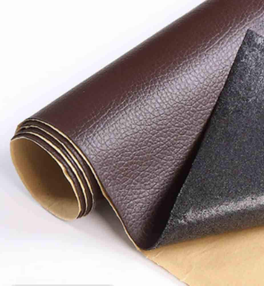 Custom Leather and Vinyl Repair Kit for Smaller Repairs - Adhesive Putty Filler Glue, Patch Fabric and Tools - Restorer of Scratch or Crack Black White Red Dark Brown