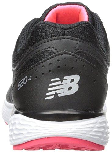 New Balance Womens W520V2 Running Shoe Black/pink