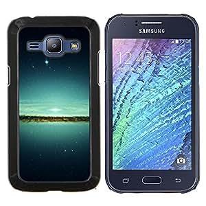 LECELL--Funda protectora / Cubierta / Piel For Samsung Galaxy J1 J100 -- Espacio Galaxy --