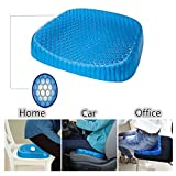 fashionmall huevo espuma de gel cojín de asiento, huevo Sitter cojín de asiento con funda antideslizante, suave Pad Mat alivio del dolor facilidad para coche silla de computadora