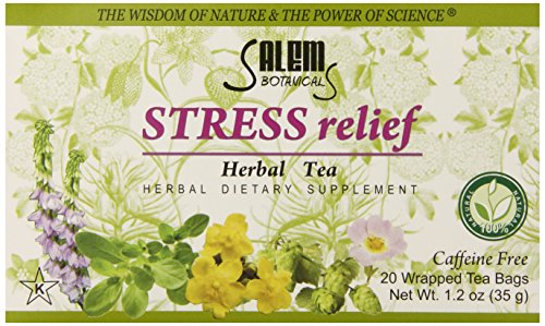 Salem Botanicals Herbal Tea, Stress Relief, 20 Count