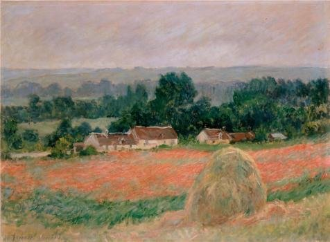 Oil Painting 'Haystack At Giverny, 1886 By Claude Monet', 30 x 41 inch / 76 x 104 cm , on High Definition HD canvas prints is for Gifts And Bar, Home Office And Living Room Decoration