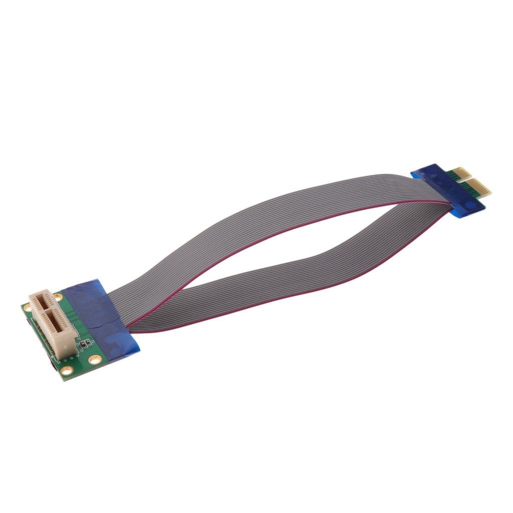 Non-brand Pci-e Express 1x Slot Riser Karte Extender Verl/ängerung Ribbon Flex Kabel
