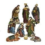 Kurt Adler N0290 1.75'' - 8'' Polyester Nativity Set of 9Piece