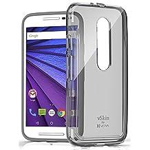 Vena [vSkin CL] Motorola Moto G (3rd Gen, 2015) Case - Ultra Slim Transparent [Shock Absorbent] TPU Case Cover Shell for Motorola Moto G (3rd Gen, 2015) (Smoke)
