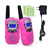 #4: Walkie Talkies for Kids, Funkprofi 2 Way Radios Toy Walkie Talkie 22 Channels 3 Miles with Rechargeable Batteries for Outdoor Adventures, Pack of 2 (Pink)