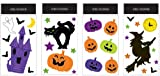 Impact Innovations Halloween Gel Cling Window Decoration, Happy Haunting, 4-Pack Assortment