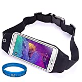 Outdoors Sport Running Belt Waist Fanny Pack Pouch Case for Samsung Galaxy Note 5 / Note 4 / Note Edge / Motorola Google Nexus 6 / LG G4 / G3 / LG G Vista / G Stylo + SumacLife TM Wristband (Black) Review