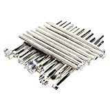BIGTEDDY - 20pcs Leather Working Saddle Making Stamps Tools Set for Leathercraft Carving DIY Handmade Art (Silver)