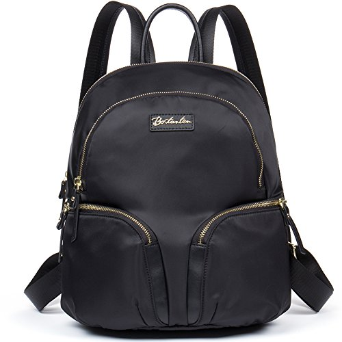 Youtube Halloween Make Up (BOSTANTEN Water Resistant Nylon Backpack Purse Casual Daypack Travel School Bag for Women & Girls Black)