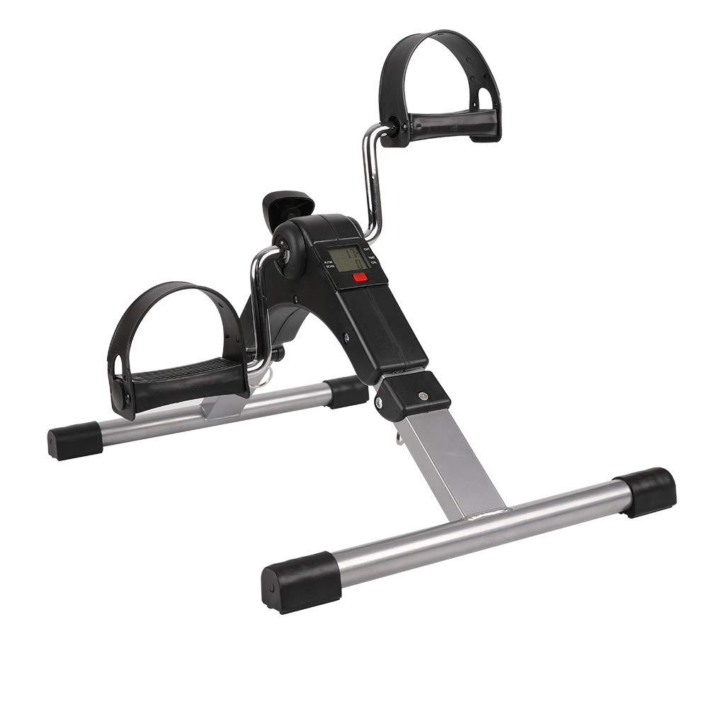 XWELL Folding Pedal Exerciser, Under Desk Fitness Rehab Equipment,Adjustable Seniors, Elderly, PT - Folding Mini Stationary Bike Peddler