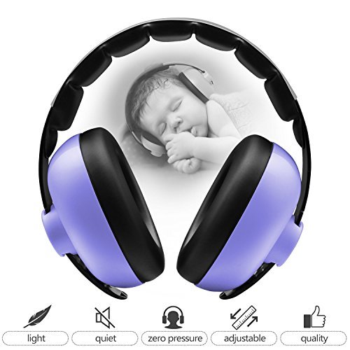 BBTKCARE Baby Ear Protection Noise Cancelling Headphones for Babies for 3 Months to 2 Years (Purple)
