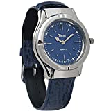 Mens Sports Braille Watch - Chrome-Leather band