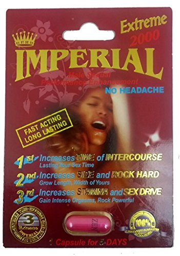 Imperial Extreme 2000mg Male Sexual Performance Enhancement Pill 6 PK (Performance Enhancement Male Pill)