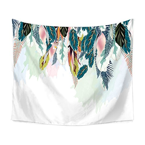 Chengsan Hippie Tapestry Psychedelic Bohemian Feather Tapestry Mandala Tapestry Bohemian Tapestry Watercolor Tapestry Indian Wall Decor Hippie Tapestry Headboard Home Decor (6, 51x59 inch)