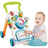 Ybriefbag-Toys Baby Three-in-one Activity Walker Baby Child Stroller Baby Early Education Multi-Function Anti-Rollover Help Step Toy Walker (Color : White, Size : 474232CM)