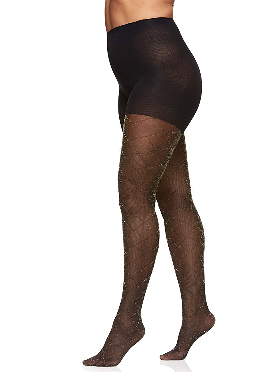 Berkshire Women's The Easy On! Plus Diamond Gold Lurex Tights 5058