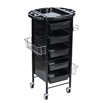 Amazon.com: Hairdresser Multifunctional Trolley, 6 Layers With ...