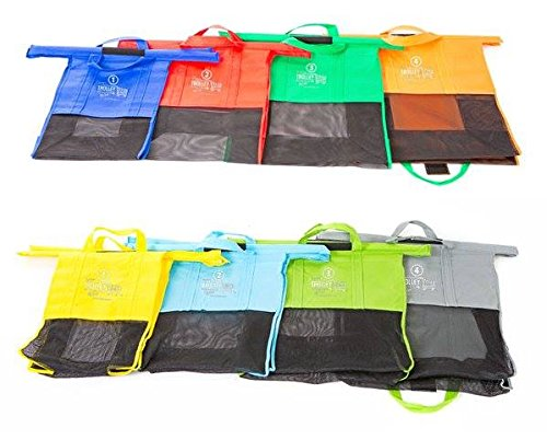 Trolley Bags - Reusable Eco Friendly Grocery Bags to Easily and Safely Bag your Groceries From Your Cart. Sized for Standard Grocery Carts. Reusable Cart Bags. (Standard Cart Size) by Trolley Bags (Image #3)