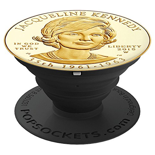 First Lady Jacqueline Kennedy Jackie-O Gold Coin Replica - PopSockets Grip and Stand for Phones and Tablets