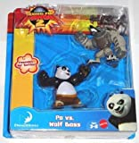 Fisher Price Kung Fu Panda 2 Po and Wolf Boss Figure Pack