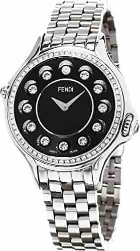 Fendi Women's 'CrazyCarats' Swiss Quartz Stainless Steel Dress Watch, Color:Silver-Toned (Model: F107021000B0T05)