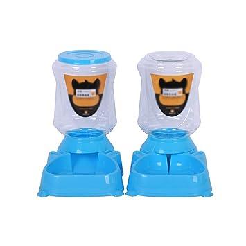 Alimentador automático Alimentador de alimentos para mascotas automático portátil y conjunto de agua Alimentador de suministro de viaje y dispensador de ...