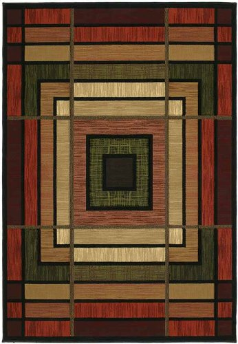 United Weavers of America Contours Collection Ambience Heavyweight Heatset Olefin Rug, 1-Foot 10-Inch by 2-Feet 8-Inch, Terracotta (Rug Mission Style)