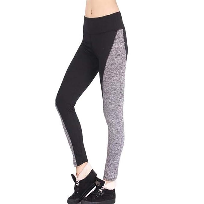 2e8bc827150e6 Yoga Mujer Deportivas Pantalones Trousers Leggings Polainas para Mujer  EláSticos Pilates Fitness Atlético Pantalones de correr de cintura media  del Estilo ...