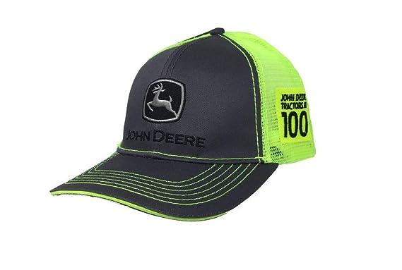 John Deere Mens 100 Year Anniversary Classic Logo Cap-Charcoal at ... 4f19e25d61db