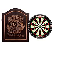 EMPIRE®™ Cabinet Kings Head schwarz inkl. WINMAU BLADE 5 + EMPIRE® Dartset