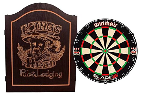 EMPIRE®™ Cabinet Kings Head schwarz inkl. WINMAU BLADE 5 + EMPIRE® Dartset