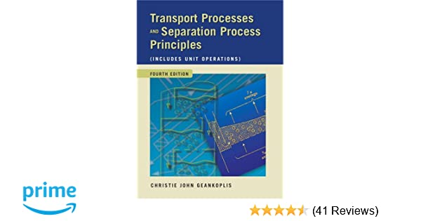 Transport Processes And Separation Process Principles Pdf