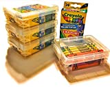 Crayola Crayons 24 Count with Clear Super Stacker Plastic Crayon Cases - Set of 4