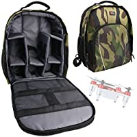 DURAGADGET Camouflage Water-Resistant Rucksack / Backpack with Customizable Interior & Raincover for the Syma X12 Nano Rojo 6-Axis Gyro 4CH RC Mini RTF Quadcopter